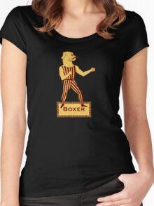 Boxer Dog Bonzo Bones Women's Fitted Scoop T-Shirt