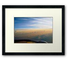 Sunrise at 33,000 Feet Framed Print