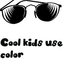 Cool kids use color therapy by braincakedesign