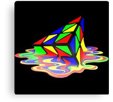 Melting Pyraminx cude Canvas Print