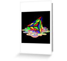 Melting Pyraminx cude Greeting Card