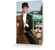 concentrating. Greeting Card