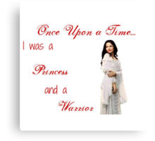 Ounce Upon a Time - Snow White Canvas Print