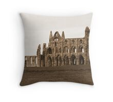 Abbey in Sepia Throw Pillow