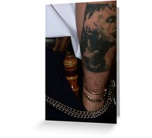 rough justice - the screw ... Greeting Card