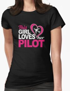 Excellent 'This Girl Loves Her Pilot' Funny TShirts and Accessories T-Shirt