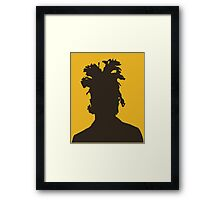The Weeknd silhouette  Framed Print