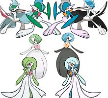 Gardevoir and Gallade with Shinies by Mayzle