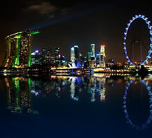 Reflections at Marina Bay by Jenny Zhang
