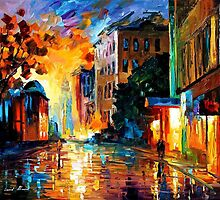 Yellow Town — Buy Now Link - www.etsy.com/listing/216157770 by Leonid  Afremov