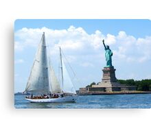 Summer in the City, New York Harbour Canvas Print