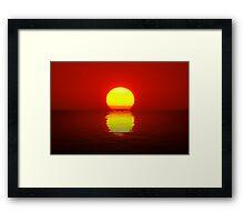 Egg Yolk Sunset Framed Print