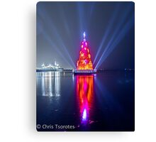 Geelong Christmas Tree Canvas Print