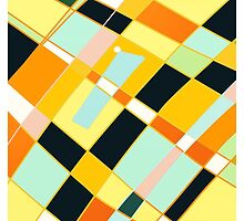 Abstract blocks, plaid pattern by ackelly4