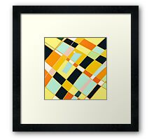 Abstract blocks, plaid pattern Framed Print