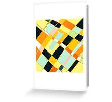 Abstract blocks, plaid pattern Greeting Card