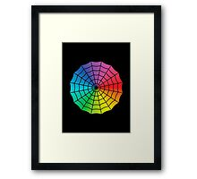 Spider Web - Color Spectrum White Framed Print