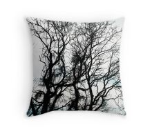 leave me at the tree Throw Pillow