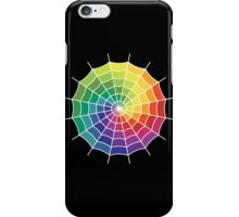 Spider Web - Color Spectrum Shift White iPhone Case/Skin