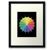 Spider Web - Color Spectrum Segment White Framed Print