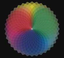 Spirograph - Color Spectrum Multiply by Jenny Zhang