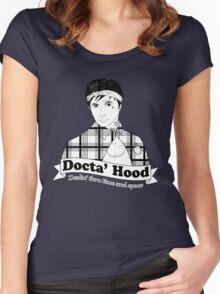 Docta' Hood - Dealin' thru Time & Space Women's Fitted Scoop T-Shirt