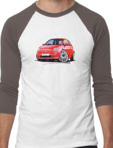 New Fiat 500 Red Men's Baseball ¾ T-Shirt