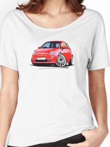 New Fiat 500 Red Women's Relaxed Fit T-Shirt