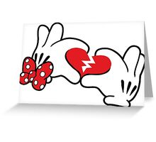 Minnie broken heart Greeting Card