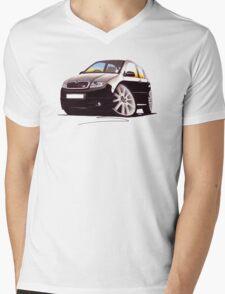 Skoda Fabia vRS Black Mens V-Neck T-Shirt