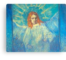 'Half Figure of an Angel' by Vincent Van Gogh (Reproduction) Canvas Print