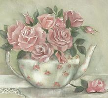 Teapot Roses by Chris Hobel