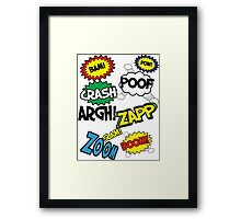 Comic Sound Effects Framed Print