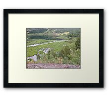 Little Red House in the Valley Framed Print