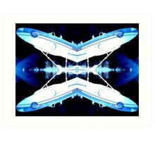 Plasma-Sonic Flight! Art Print
