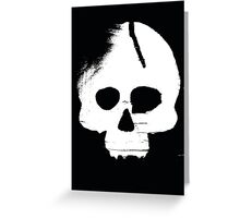 Skull Stencil Greeting Card