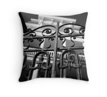 South Battery Gated Mansion Throw Pillow