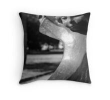 White Point Fountain Girl Throw Pillow