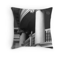 Round Portico, Charleston, SC Throw Pillow