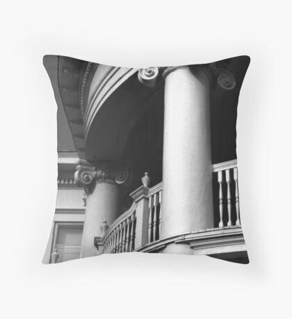 Round Portico, Charleston, SC Throw Pillow