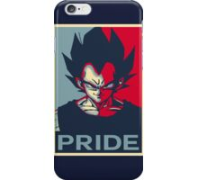 "Vegeta ""PRIDE"" Poster  iPhone Case/Skin"