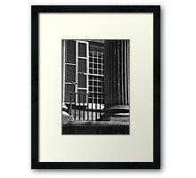 Randolph Hall Columns & Shutters Framed Print