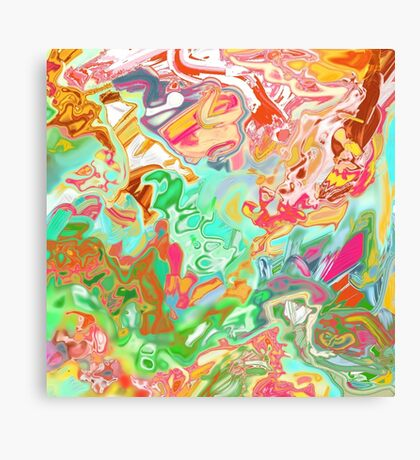 HAND DRAWN PSYCHEDELIC abstract  Canvas Print