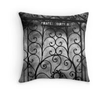 Pirates Courtyard Throw Pillow