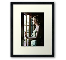 A new beginning awaits me behind these glass doors Framed Print