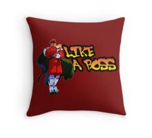 Bison-Like a Boss Throw Pillow