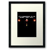 Zelda - It's Dangerous to go alone! Framed Print