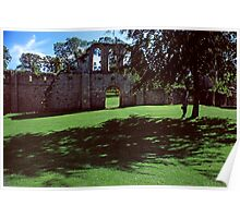 Ruins, Fountains Abbey, Midsummer Poster