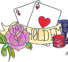 hold em tattoo by Lupe Woody