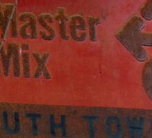 Rusty sign - Master Mix Sticker